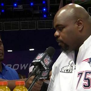 New England Patriots defensive tackle Vince Wilfork on stopping Seattle Seahawks running back Marshawn Lynch: 'You gotta take it personal'