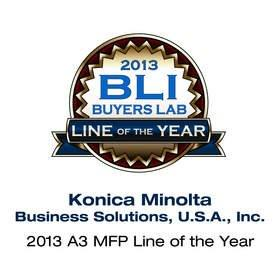 """Konica Minolta Receives 2013 """"A3 MFP Line of the Year"""" Award From BLI"""