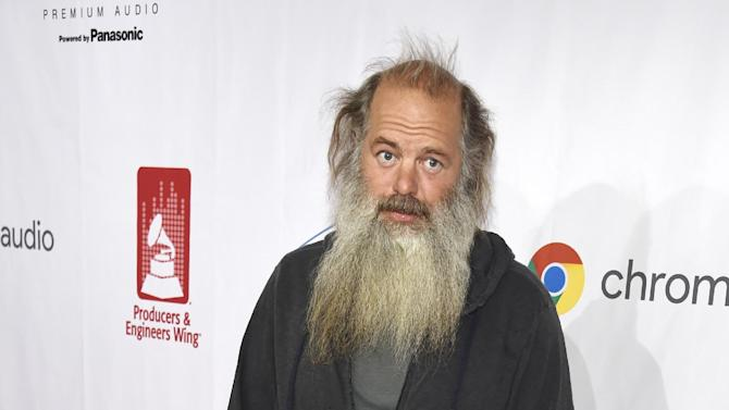 Music producer Rick Rubin poses on the red carpet at the ninth annual Grammy Week Event honoring him at The Village Recording Studios on Thursday, Feb. 11, 2016, in Los Angeles. (Photo by Chris Pizzello/Invision/AP)