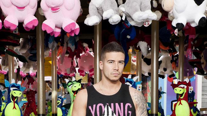 "Vinny Guadagnino back in Seaside, NJ for Season 5 of ""Jersey Shore."""