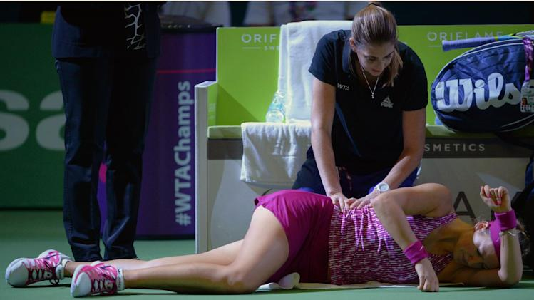 Injured Azarenka out of WTA Championships
