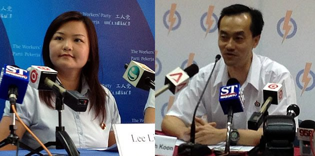 Will it be a straight fight between WP's Lee Li Lian and PAP's Koh Poh Koon? (Yahoo! photo)