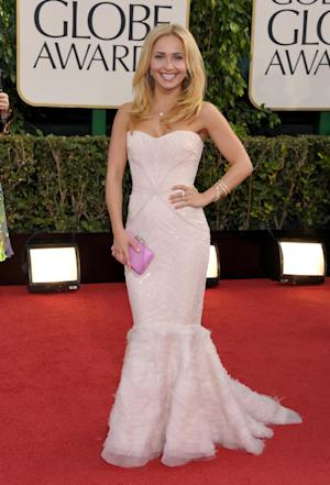 Hayden Panettiere arrives at the 70th Annual Golden Globe Awards at the Beverly Hilton Hotel on Sunday Jan. 13, 2013, in Beverly Hills, Calif. (Photo by John Shearer/Invision/AP)
