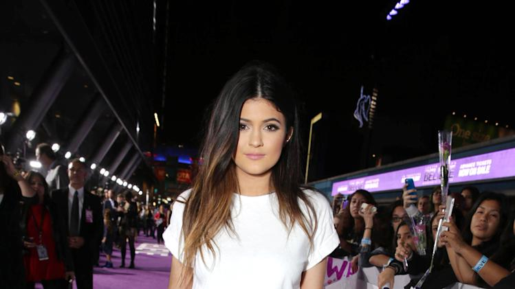 "Kylie Jenner seen at the World Premiere of Open Road's ""Justin Bieber's Believe"" presented by Teen Vogue and sponsored by Clearasil, on Wednesday, Dec. 18, 2013 in Los Angeles. (Photo by Eric Charbonneau/Invision for Open Road Films/AP Images)"