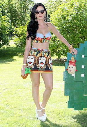 Katy Perry Bares Midriff in Fun Dali Skirt at Coachella Pool Party: Picture