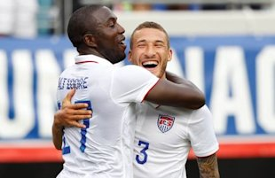 Jozy Altidore and FabianJohnson connected for Altidore's first goal since Dec. 4. (Reuters)
