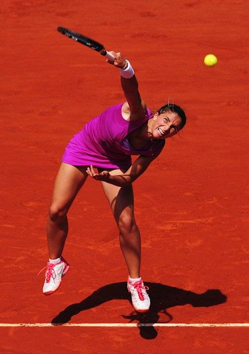 Sara Errani Of Italy Serves Getty Images