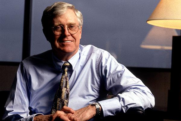 Charles G. Koch, 76 Company: Koch Industries  Net worth: $24.7 billion