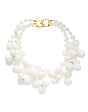 Kenneth Jay Lane Statement Beaded Necklace, $93.34
