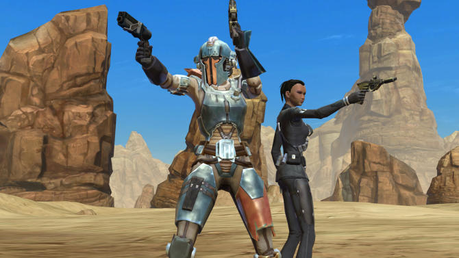 "This video game image courtesy of Electronic Arts/BioWare shows ""Star Wars: The Old Republic.""   (AP Photo/Electronic Arts/BioWare)"