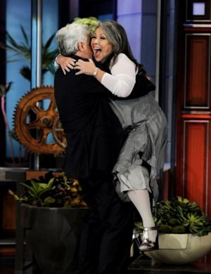 "Roseanne Barr cuts loose on ""The Tonight Show with Jay Leno"" at the NBC Studios in Burbank, Calif. on August 4, 2011 -- Getty Premium"