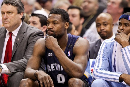 SAN ANTONIO, TX - MAY 21: Tony Allen #9 of the Memphis Grizzlies looks on from the bench while playing against the San Antonio Spurs in Game Two of the Western Conference Finals during the 2013 NBA Pl