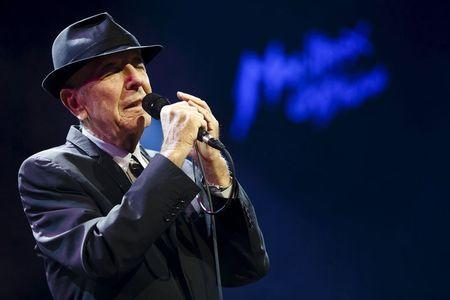 File photo of Canadian singer-songwriter Cohen performing during the first night of the 47th Montreux Jazz Festival