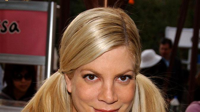 Tori Spelling at Leylove at the 2007 Silver Spoon Golden Globes Suite - Day 2.