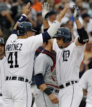 Infante has 2 homers, 5 RBIs to lead Tigers 10-5