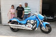 There is a new passion in Salman Khans life: a limited edition blue Suzuki Intruder M1800RZ. The enthusiastic biker recently added this cruiser