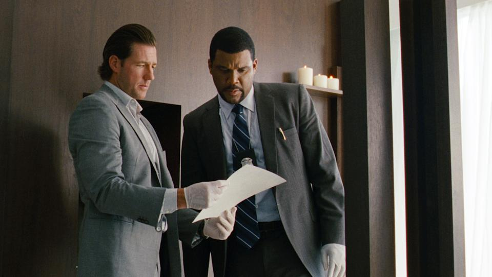 "This film image released by Summit Entertainment shows Edward Burns, left, and Tyler Perry in a scene from ""Alex Cross.""  (AP Photo/Summit Entertainment)"
