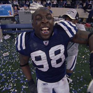 Indianapolis Colts defensive end Robert Mathis mayhem