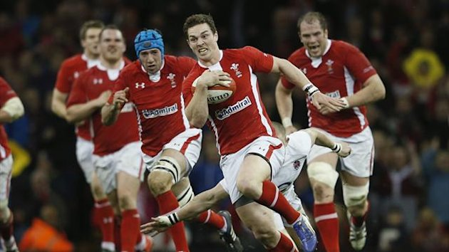 Wales at full tilt against England