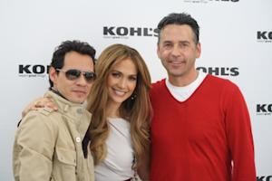 Marc Anthony, Jennifer Lopez and Tony Potts at an event for Kohl's in Los Angeles on November 18, 2010 -- Access Hollywood