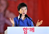 "North Korea has made a parody of the South Korean music video phenomenon ""Gangnam Style"" to attack the South's ruling conservative party presidential candidate Park Geun-Hye, pictured in August 2012"