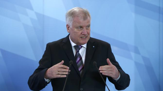 Bavarian state Premier Seehofer addresses news conference in Munich