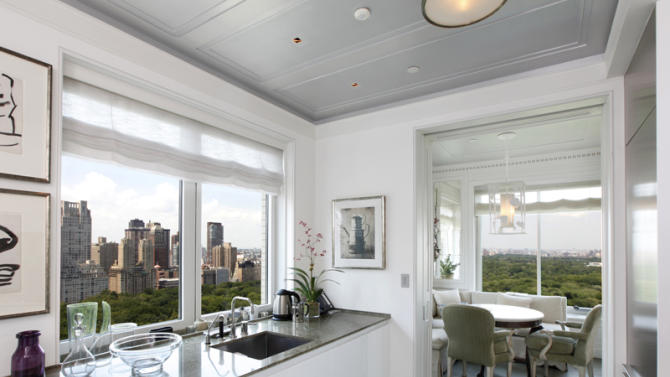 $50 million two-bedroom apartment at Central Park Ritz-Carlton kitchen view