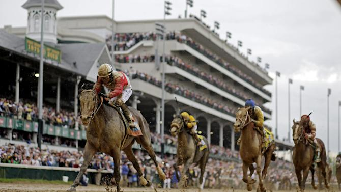 Joel Rosario rides Orb during the 139th Kentucky Derby at Churchill Downs Saturday, May 4, 2013, in Louisville, Ky. (AP Photo/David J. Phillip)