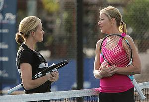 Elisabeth Shue, Chris Evert | Photo Credits: Monty Brinton/CBS