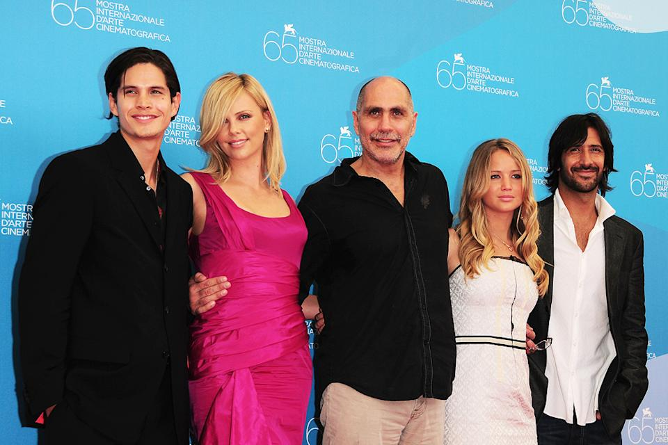Venice Film Festival 2008 The Burning Plain photocall JD Pardo Charlize Theron Guillermo Arriga Jennifer Lawrence Jose Maria Yazpik