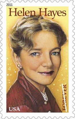 Actress Helen Hayes on new postage stamp (AP)
