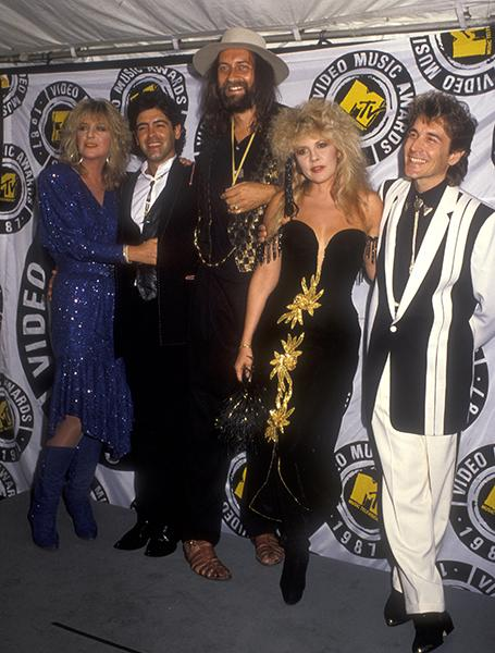 On the red carpet with Fleetwood Mac for the 1987 VMAs