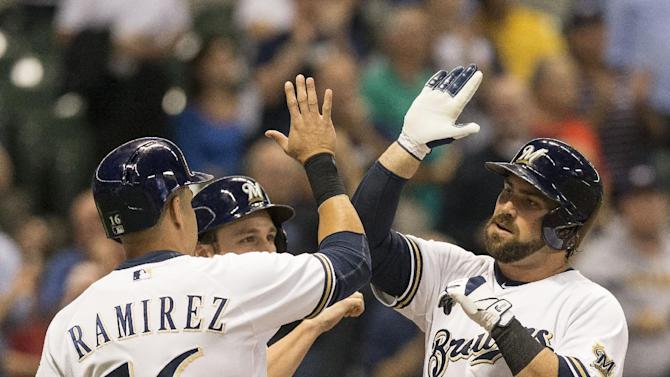 Halton, Thornburg lead Brewers past Cubs, 7-0