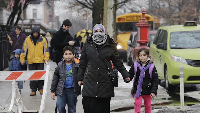 school day, Wednesday, March 4, 2015 in the Brooklyn borough of New ...