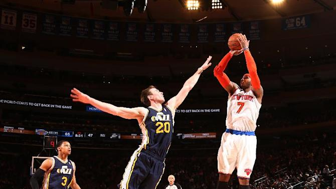 Anthony, Knicks enjoy easy 108-81 win over Jazz