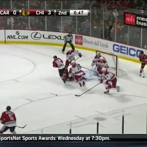 Cam Ward Save on Bryan Bickell (13:17/2nd)