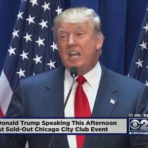 Trump's City Club Speech Drawing Big Crowd, Protests