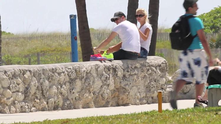 Michael Bublé and Pregnant Wife Luisana Lopilato Look Loved Up on Beach Walk
