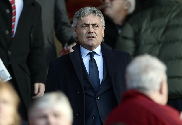 Tottenham Hotspur technical director Franco Baldini arrives for their English Premier League soccer match against Southampton at St Mary's stadium in Southampton