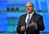 Microsoft CEO Steve Ballmer delivers a speech at the Seoul Digital Forum, on May 22. Microsoft is seeking to revamp its position in the mobile-led industry market with its new PC and tablet-compatible OS, Windows 8