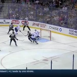 Jonathan Bernier Save on Ryan Callahan (03:13/1st)
