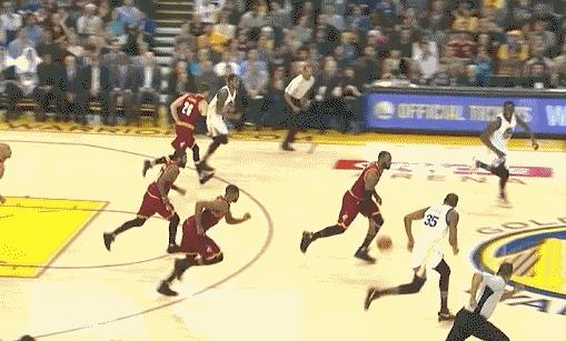 Draymond Green mocked LeBron James' fall after mid-court collision