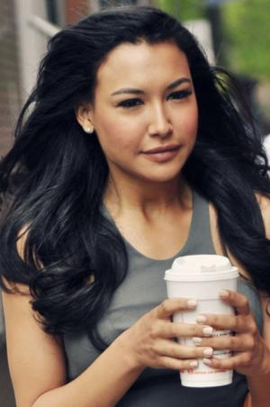 "Naya Rivera plays Santana on ""Glee."""
