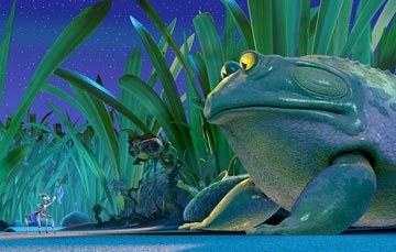 Zoc (voiced by Nicolas Cage ) and Frog (voiced by Frank Welker ) in Warner Bros. Pictures' The Ant Bully