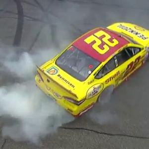 Logano punches his ticket, wins Loudon