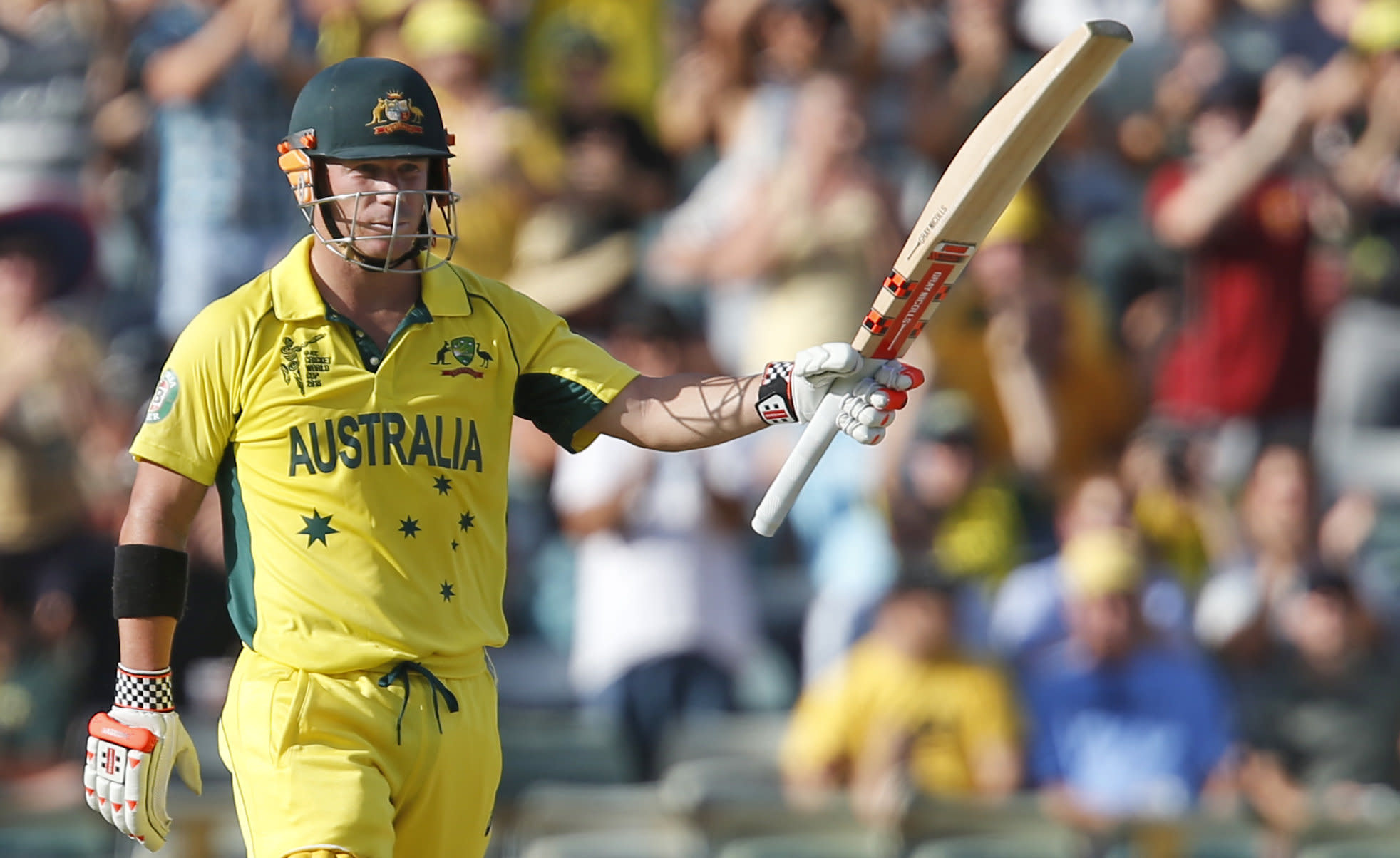 Warner's 178 helps Australia to record World Cup win