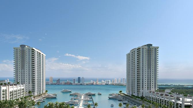 Twin Luxury Condo Towers to Rise in North Miami Beach: Plaza Group/DevStar Group to Build Miami's First Yacht Club/Residences in Two Decades