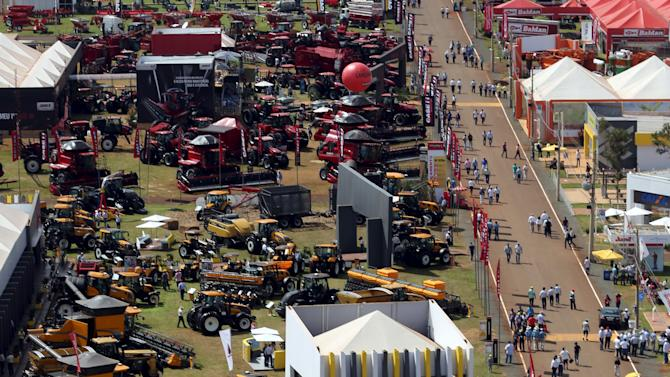 Aerial view of Agrishow, the largest fair of agricultural machinery business in Latin America, in Ribeirao Preto, Brazil