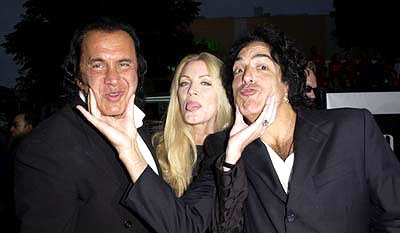 Premiere: Gene Simmons, Shannon Tweed and Paul Stanley at the Westwood premiere of Warner Brothers' Rock Star - 9/4/2001
