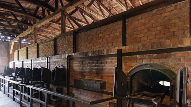 In this undated photo,  publicly provided by the State Museum of  Majdanek, in Lublin, Poland, crematorium furnaces are pictured.  On Monday Jan. 7, 2013  Polish prosecutors have opened an investigation into a Swedish artist's claim that he used the ashes of Holocaust victims to make a painting. The artist, Carl Michael Hausswolf, wrote on the website of a gallery in Lund, Sweden, last year that he made a painting using ashes that he took from crematorium furnaces in Majdanek, a former Nazi German death camp located in eastern Poland, on a visit there in 1989. (AP Photo/ HOPD/Piotr Maciuk, State Museum at Majdanek)